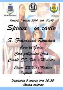 Spinea Santa Francesca Romana 2014