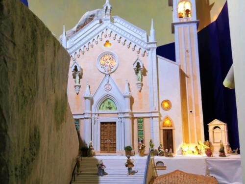Renato Brazzolotto presepe nella chiesa a Caselle di S M Sala Ve -Madonna della Corona a Spiazzi (1)